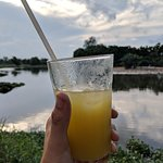 Sugar cane juice by a duck farm after a successful day off adventuring!