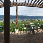 Panorama of the patio view.