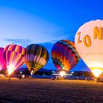 Balloons inflating in the Yarra Valley