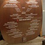 The stone menu