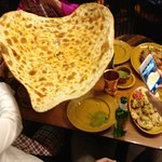 Probably the largest naan in the country