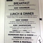 menu choices for kids at Corner Bakery