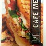 Corner Bakery menu cover page
