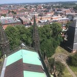 Views from the top of the tower including over the Cathedral