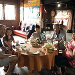Local dining in a villager's house near Longji rice terraces