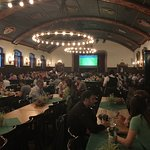Inside the beer hall. I love the size of these rooms!