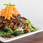 Thai Beef Salad. sweet and spicy flavors of Thailand.