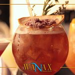 Signature Cocktails at our Wanax Mediterranean Tapas Bar