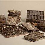 oude stalen chocolade mallen