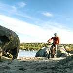 e-bike&view: beach and rocks, a common match on Sardinia