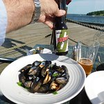 With some mussels ...
