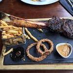 The Tomahawk...truly not worth the money paid for, unless you like burnt fatty meat.