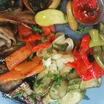 Grilled vegetables with balsamic sauce..