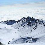 Mount Kilimanjaro summit glacier