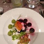 The starter; Organic Estonian beetroot Tartare