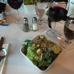 The Caesar Salad, it comes with each meal as the first item.