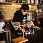 Siphon coffee made daily