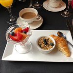 The first part of the delicious continental breakfast included with stay...