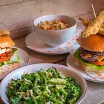 Burgers and sides