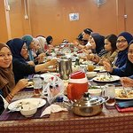 Malaysian student is having dinner at muslim Family Resturant siem reap