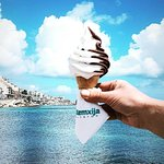 Our Fresh Chocolate and Vanilla soft serve ice-cream cone