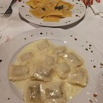 marubini alla crema e ravioli di zucca