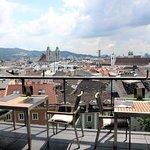 Ausblick von der Terrasse auf die Altstadt