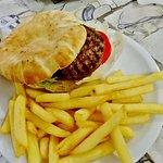 Hamburger + fries....delicious!