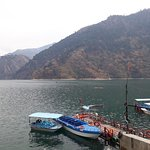 Chamera lake very beautiful place must visit adventure boat ride you must ware life jacket. 1to