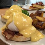 Eggs Benedict is always popular on our Sunday Brunch Menu.