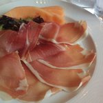 the prosciutto with melon