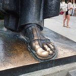 Statue foot