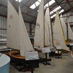 many boats in hangar
