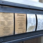 Sidewalk menu display