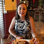 Wife enjoying the pate appetizer