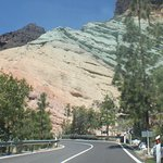 Driving up to Los Azulejos