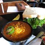 Half Sandwich and chili
