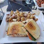 Lobster Panini with poutine