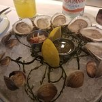 Oysters, Little Neck Clams, and $6.00 cocktail