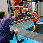 Test your aim ability by playing dodgeball on our trampoline park with other kids. - Peoria