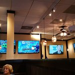Lots of TVs in the dining area