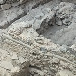 You can see some of the clay pipes that the village used to get rain water from the roof.