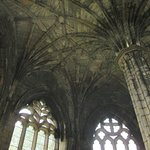 Inside one of the intact buildings at Elgin Cathedral