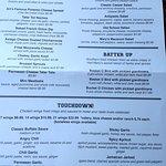 shot of the menu