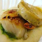 Scallops & Foie, Salad capresse