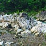 White Rocks and stream falls