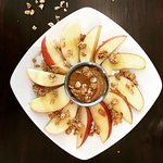 A spin on apples and peanut butter (try with honey and our scratch-made granola)