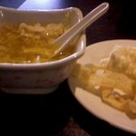 Fantastic egg drop soup, this was a side dish with the hibachi chicken