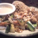 Hibachi chicken, pretty good, vegetables in the dish were outstanding and fresh