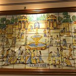 Tile decor of the cafe